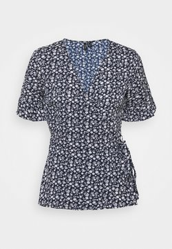 Vero Moda Tall - VMHENNA WRAP - T-Shirt print - navy blazer