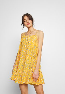 Superdry - DAISY BEACH DRESS - Freizeitkleid - yellow floral