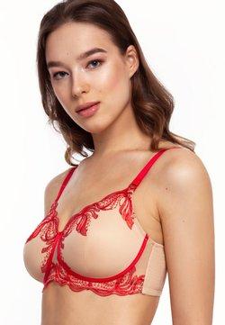 MEGAMI - PHOENIX WIRELESS PADDED LACE - T-Shirt BH - nude