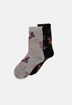Becksöndergaard - FLOWERWHIRL MYLA SOCK 2 PACK - Socken - black