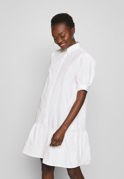 Bruuns Bazaar - FREYIE ALISE SHIRTDRESS - Vestido camisero - white