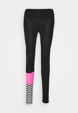 Hey Honey - LEGGINGS SURF STYLE - Tights - neon pink/black
