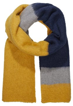 ONLY - ONLLIMA BLOCK SCARF  - Sjaal - golden yellow/night sky
