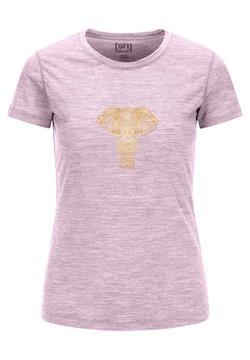 super.natural - POWER ELEPHANT - T-Shirt print - dunkelrosa