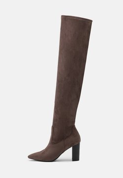 Buffalo - MAGDALENA - Overknee laarzen - taupe