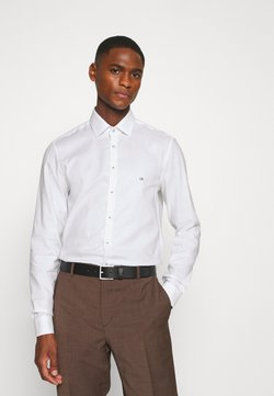 Calvin Klein Tailored - CONTRAST PRINT SLIM SHIRT - Camicia elegante - white