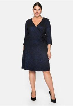 Sheego - Cocktailkleid/festliches Kleid - schwarz-blau