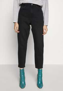 Topshop Petite - MOM CLEAN - Relaxed fit jeans - worn black
