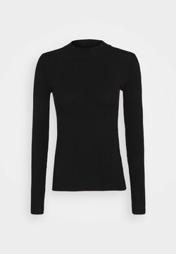 Zign - MIXED RIB JUMPER - Strickpullover - black
