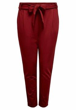 ONLY Carmakoma - CARGOLDTRASH - Spodnie materiałowe - merlot