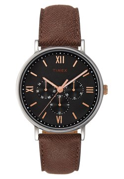 Timex - SOUTH VIEW MULTIFUNCTION 41 mm - Montre - silver-coloured/brown
