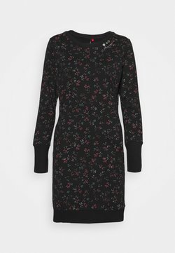 Ragwear - MENITA FLOWERS - Freizeitkleid - black