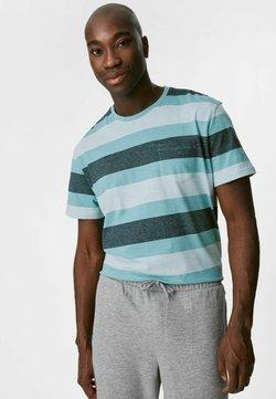 C&A - T-Shirt print - dark blue / blue / light blue