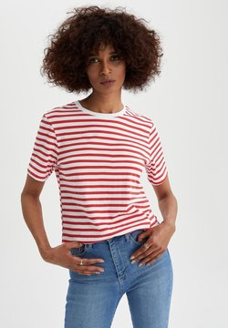 DeFacto - T-Shirt print - red