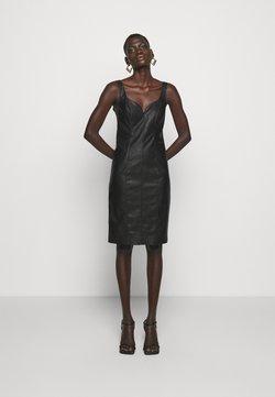 Pinko - PUDICO ABITO SIMILPELLE - Cocktailkleid/festliches Kleid - black