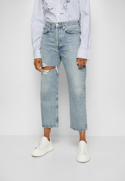Agolde - 90'S CROP PANT  - Jeans Tapered Fit - echo/light blue