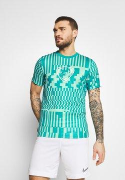 Nike Performance - DRY - T-Shirt print - light dew/aquamarine/white