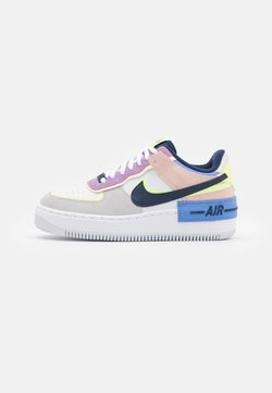 Nike Sportswear - AIR FORCE 1 SHADOW - Sneaker low - photon dust/royal pulse/barely volt/crimson tint/violet star/midnight navy