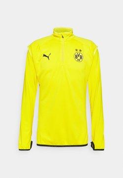 Puma - BVB BORUSSIA DORTMUND WARMUP MIDLAYER - Vereinsmannschaften - cyber yellow/puma black