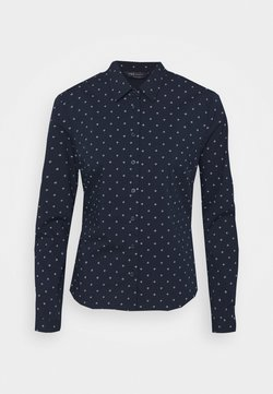 Marks & Spencer London - GEO FITTED SHIRT - Bluse - dark blue