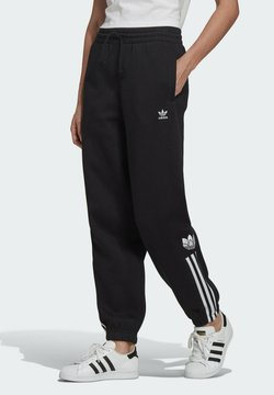 adidas Originals - FLEECE PANT ADICOLOR ORIGINALS RELAXED PANTS - Jogginghose - black