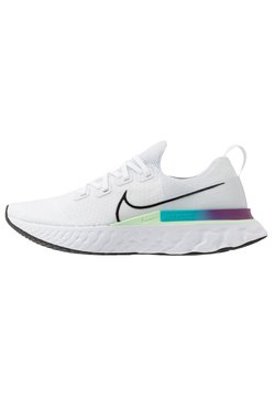 Nike Performance - REACT INFINITY RUN FK - Zapatillas de running neutras - white/black/vapor green/oracle aqua