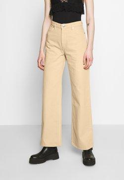 Monki - YOKO - Straight leg jeans - beige medium dusty
