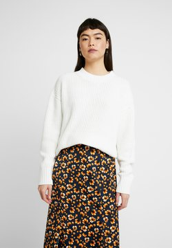 Selected Femme - SLFBAILEY SLIT - Strickpullover - snow white