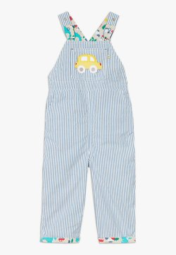 Frugi - RORY REVERSIBLE DUNGAREE DINOSAUR BABY - Salopette - green