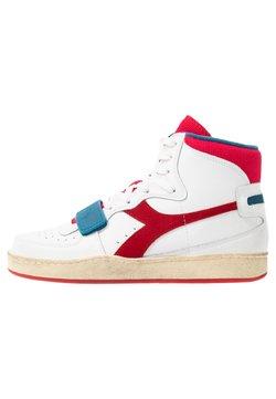 Diadora - MI BASKET USED UNISEX - Sneakers hoog - white/dark red