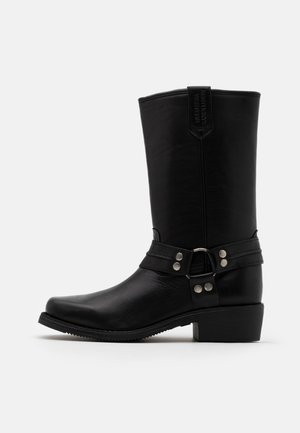 bottines motard cuir promo