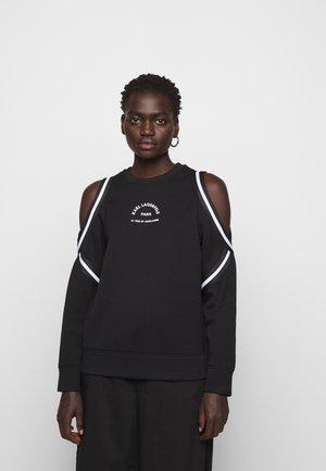 KARL LAGERFELD COLD SHOULDER  - Sweatshirt - black