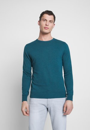 TOM TAILOR WITH TECHNICAL POCKET - T-shirts - deep pond green
