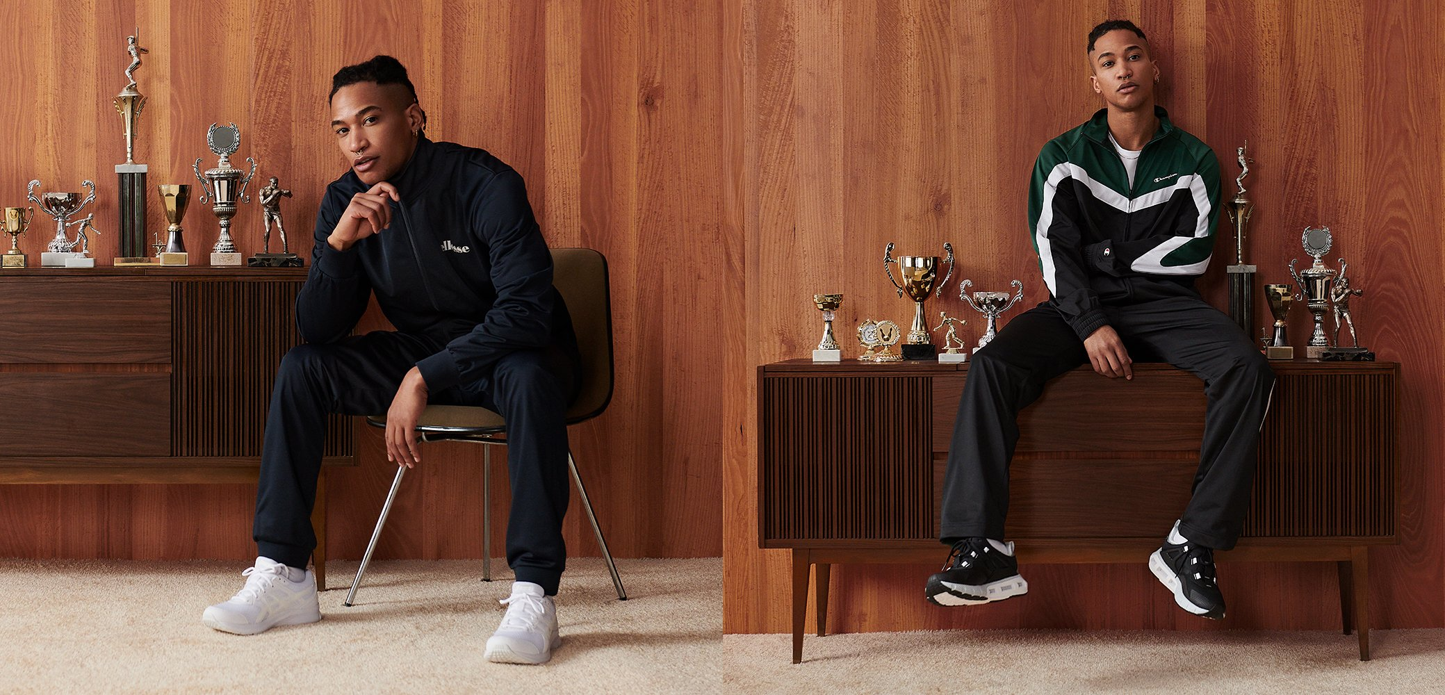 On-trend tracksuits