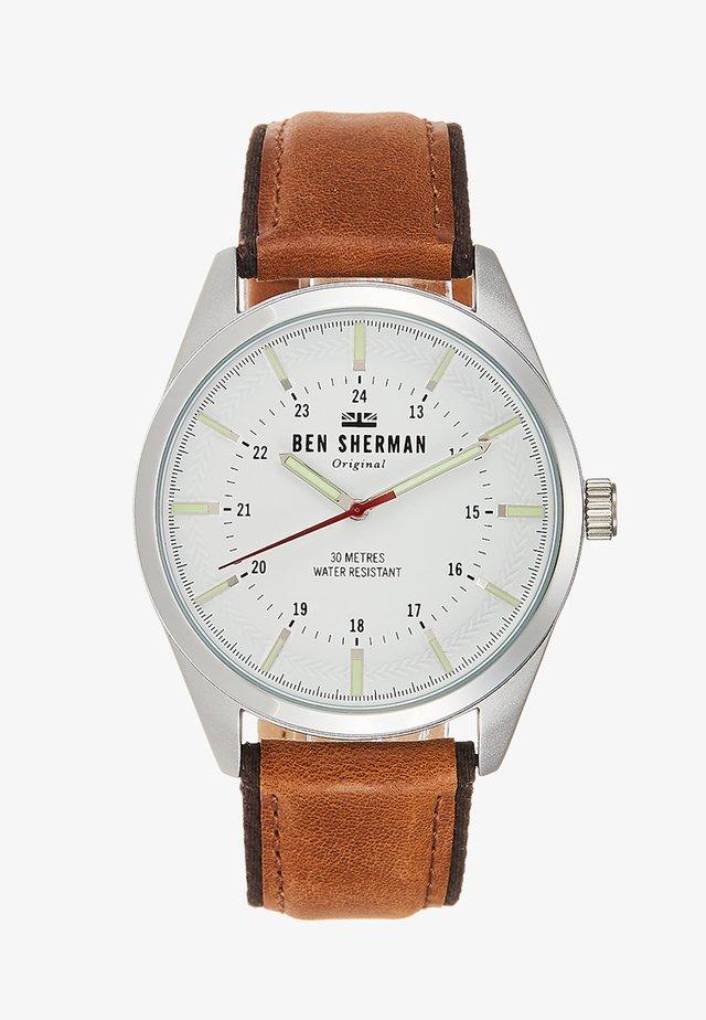 SPITALFIELDS OUTDOOR - Horloge - brown/silver-coloured