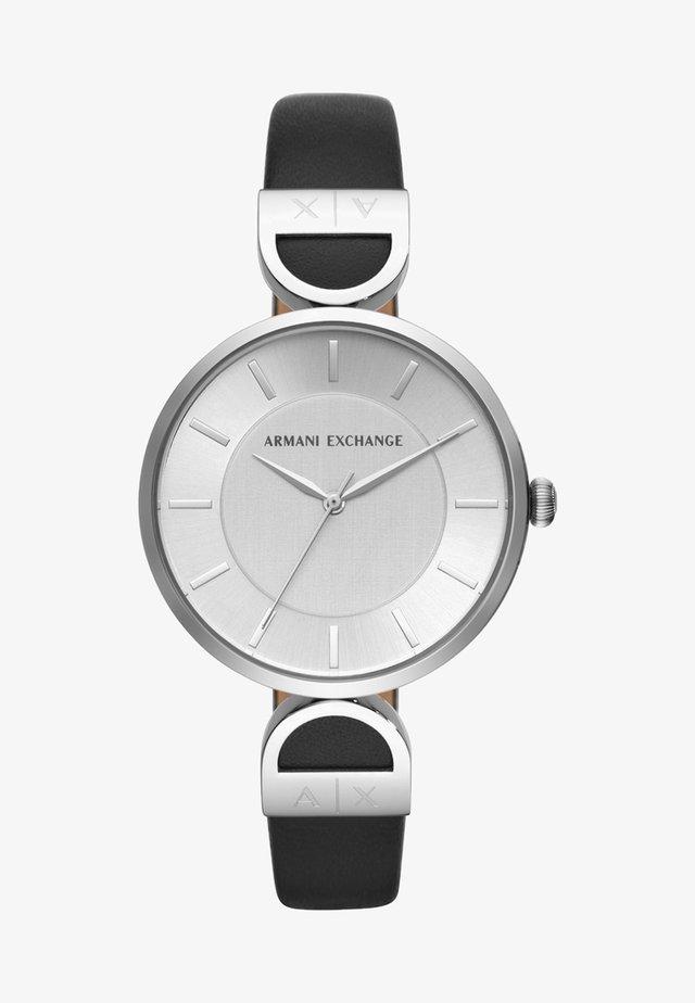 Uhr - schwarz/silber