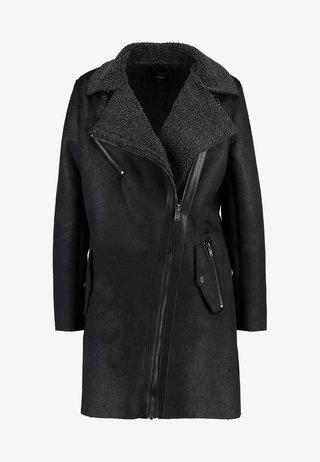 ONLSANTANA BONDED COAT - Abrigo corto - black