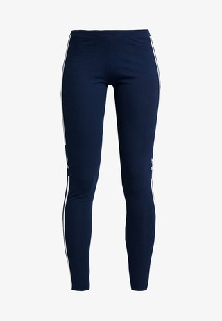 ADICOLOR TREFOIL TIGHT - Leggings - collegiate navy