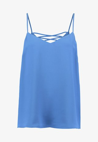 CROSS BACK CAMI - Top - mid blue