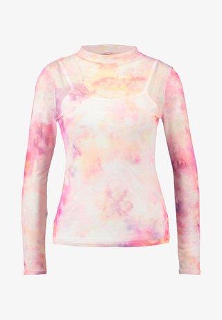 TIE DYE SCOOP - Langærmede T-shirts - pink