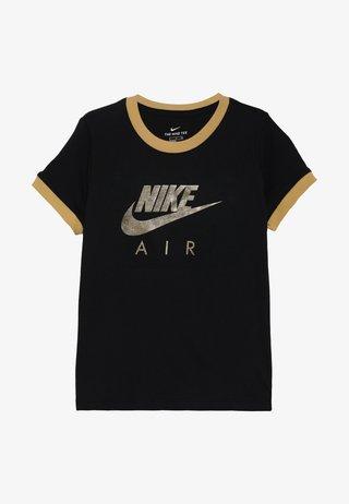 TEE AIR LOGO RINGER - T-shirt z nadrukiem - black