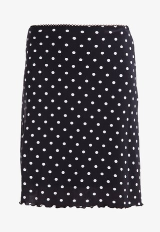 A-snit nederdel/ A-formede nederdele - black/white