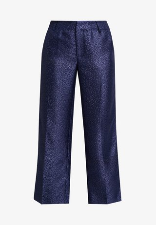 LYNNE EVENING CULOTTE PANTS - Trousers - royal navy blue