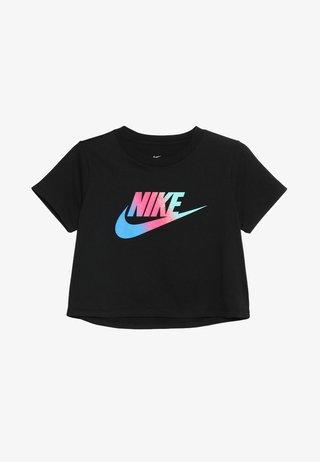 TEE CROP - T-shirt z nadrukiem - black