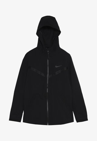 TECH PACK HOODIE - Zip-up hoodie - black/thunder grey