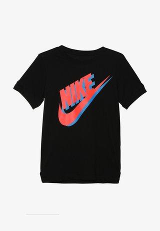 TEE LARGE FUTURA - T-shirts print - black/bright crimson/photo blue
