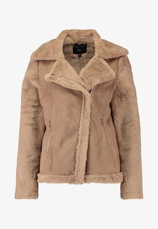 SLEEVE BIKER - Giacca in similpelle - neutral