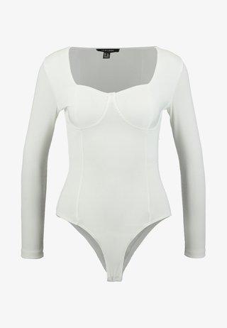 BUSTIER BODY - Maglietta a manica lunga - off white