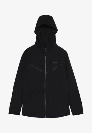 TECH PACK HOODIE - Mikina na zip - black/thunder grey