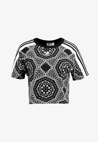 CROP TEE - T-Shirt print - black
